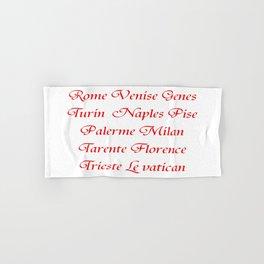 Italy's cities-Italy,Italia,Italian,Latine,Roma,venezia,venice,mediterreanean,Genoa,firenze Hand & Bath Towel