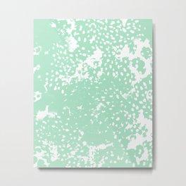 Painting mint abstract minimal painterly boho dorm nursery art Metal Print
