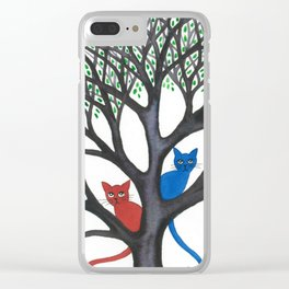 Iowa Stray Cats in Tree Clear iPhone Case