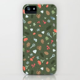 Ethnic Yakutian pattern iPhone Case