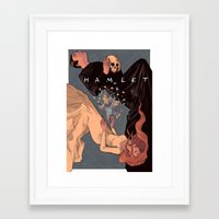 hamlet Framed Art Prints featuring Hamlet by dobie