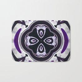 Decorative purple ornament design Bath Mat