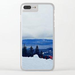 ski resort Clear iPhone Case