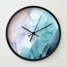 Beachy Pastel Flowing Ombre Abstract Flip Wall Clock