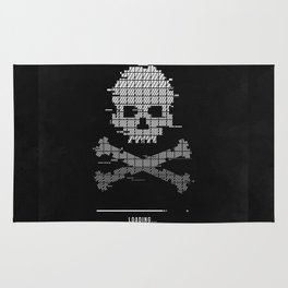 Loading death 8bit art Rug