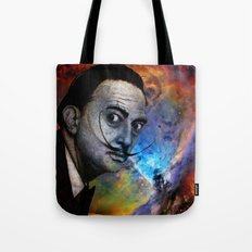 Salvador Dalí. (colored version) Tote Bag