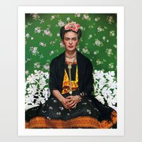 Art Prints featuring Frida Kahlo Photography I by Vitor7Costa