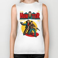 comic Biker Tanks featuring Hunter Comic by harebrained
