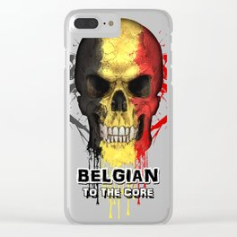 To The Core Collection: Belgium Clear iPhone Case