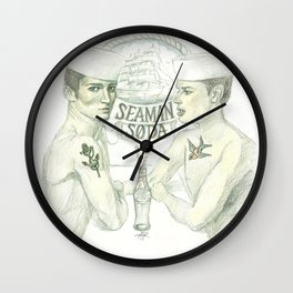 Seaman soda Wall Clock