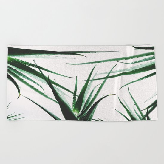 plant vibes Beach Towel