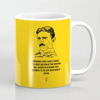 tesla Mugs featuring Tesla Quote  by Purshue
