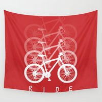 bikes Wall Tapestries featuring Bikes by ClicheZero