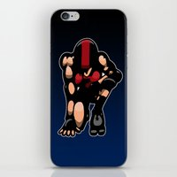 roller derby iPhone & iPod Skins featuring Roller derby x by Andrew Mark Hunter