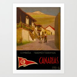 Canarias Travel Poster Art Print