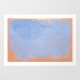 Minimal Abstract Light Blue Colorfield Painting 02 Art Print