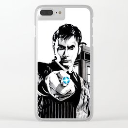 The Tenth Doctor Clear iPhone Case