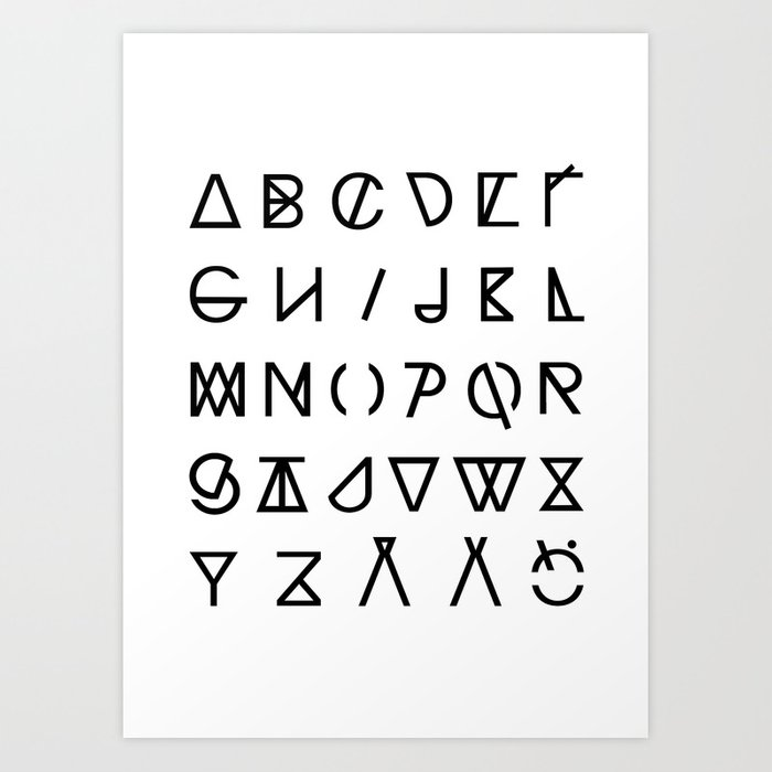 GRAPHIC ALPHABETS Art Print