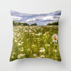 Daisy Field Throw Pillow