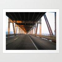 Richmond Bridge at Sunset Art Print