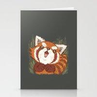 red panda Stationery Cards featuring Panda by Toru Sanogawa