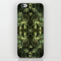 green pattern iPhone & iPod Skins featuring Green pattern by Armine Nersisian
