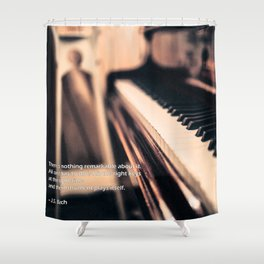 Bach's Piano Shower Curtain