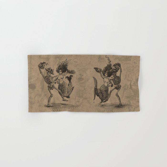 Dancing Mermaid and Skeleton Hand & Bath Towel