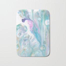 Fluid Nature - Pastel Flows - Acrylic Pour Art Bath Mat