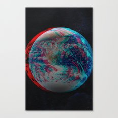 Earth Anaglyph  Canvas Print