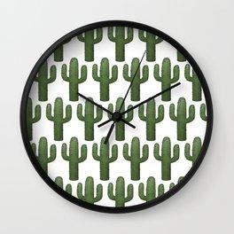 Cacti Pattern Wall Clock