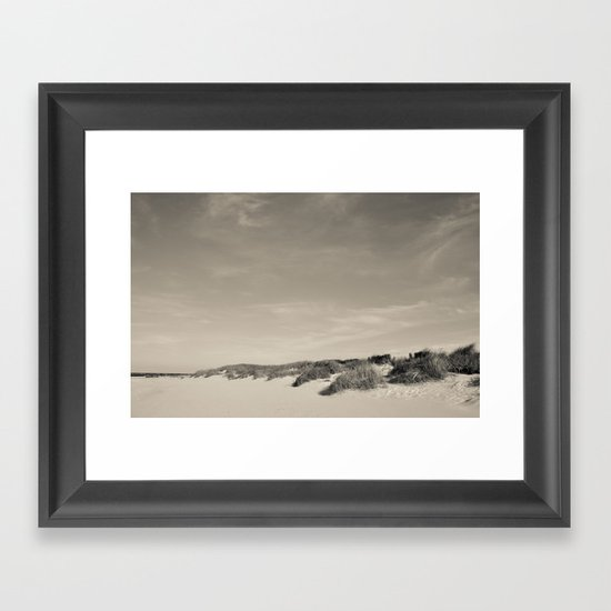 sandy beach Framed Art Print