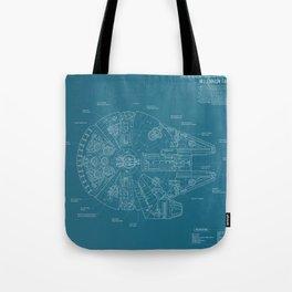 Millennium Falcon blueprint Tote Bag
