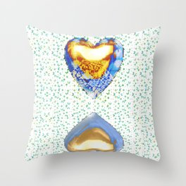 Tiger Heart Digital Collage Throw Pillow