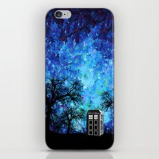 Lonely Tardis Doctor who Art painting iPhone 4 4s 5 5c 6, pillow case, mugs and tshirt iPhone Skin
