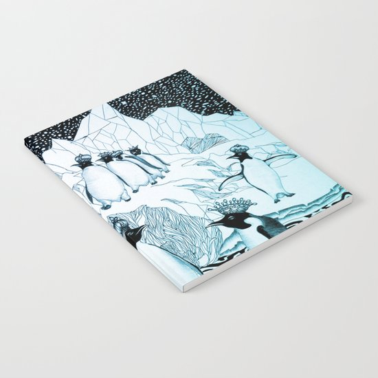 Too Many Kings in Ice Blue Notebook