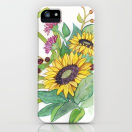 Sunflower Ikebana iPhone Case