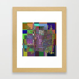 Pastel Playtime - Abstract, geometric, textured, pastel themed artwork Framed Art Print