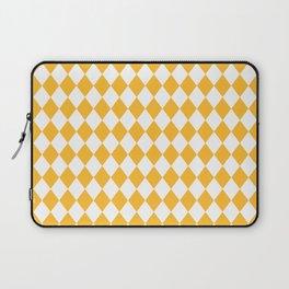 Butter Yellow Modern Diamond Pattern Laptop Sleeve