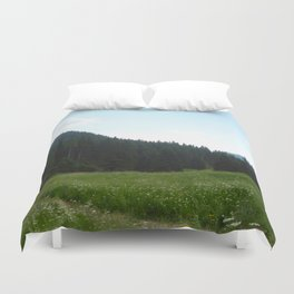 green beautiful nature Duvet Cover