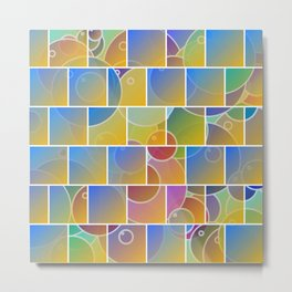 Colorful tiled puzzle Metal Print