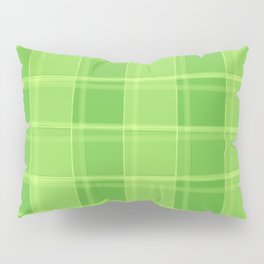 Delicate strokes of intersecting green cells with jagged stripes and lines. Pillow Sham