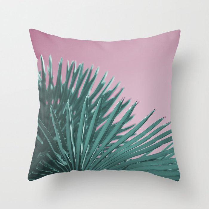 Pop Art Palms Throw Pillow