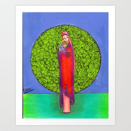 Virgin Mary with baby Jesus Art Print