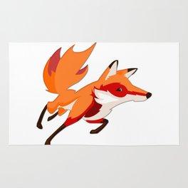Sly Red Fox Running Rug