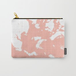 Marble pink 3 Suminagashi watercolor pattern art pisces water wave ocean minimal design Carry-All Pouch