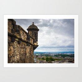 View of Edinburgh, Scotland from Edinburgh Castle Art Print