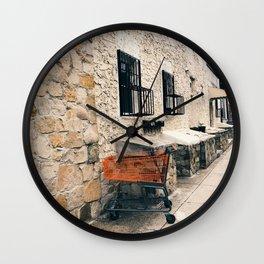 orange cart, alone Wall Clock
