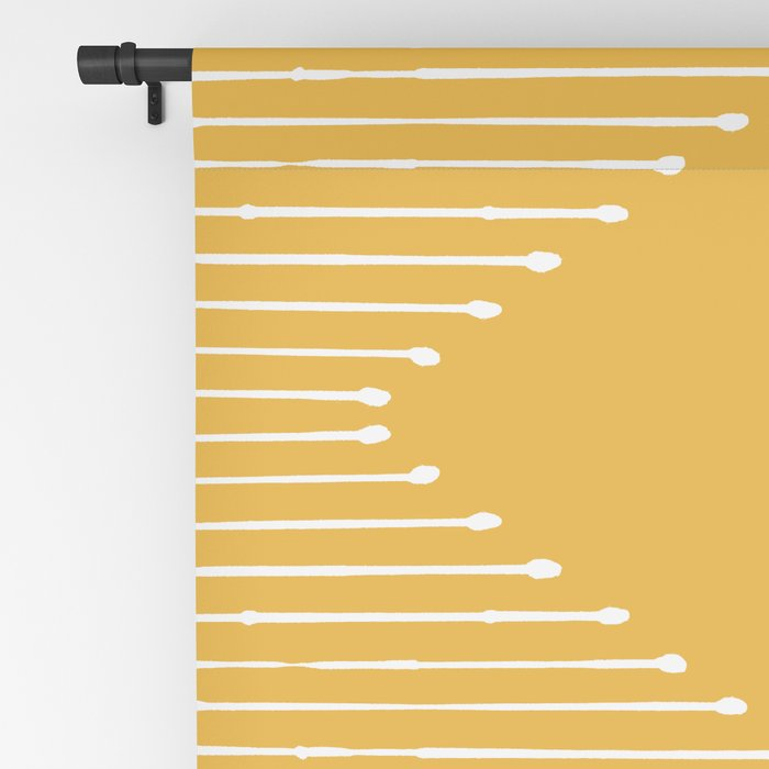 Geo / Yellow Blackout Curtain