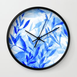 Changes Blue Wall Clock